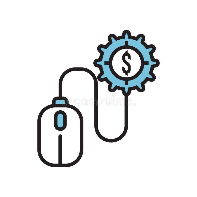 Wynagrodzenie na stuknięcie ikony wektoru znaka i symbol odizolowywający na białym tle, wynagrodzenie na stuknięcie logo pojęcie ilustracja wektor