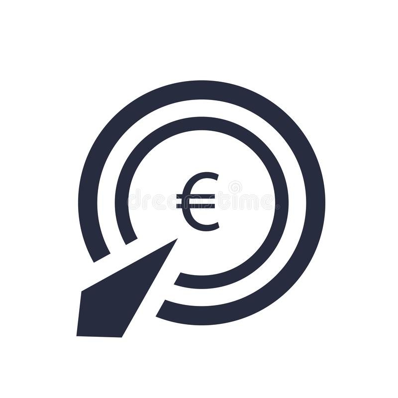 Wynagrodzenie na stuknięcie ikony wektoru znaka i symbol odizolowywający na białym tle, wynagrodzenie na stuknięcie logo pojęcie royalty ilustracja