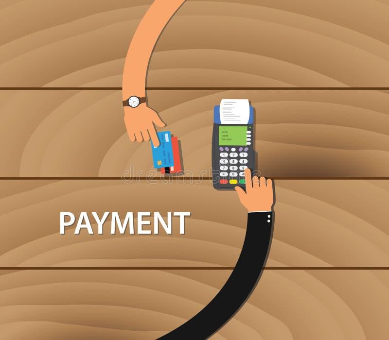Wynagrodzenie zapłaty handlowego debetu kredytowa karciana maszyna royalty ilustracja