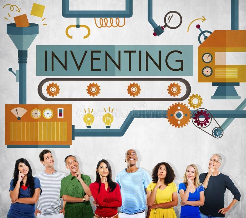 Wynajdowć innowację Tworzy Kreatywnie Proces pojęcie obraz stock
