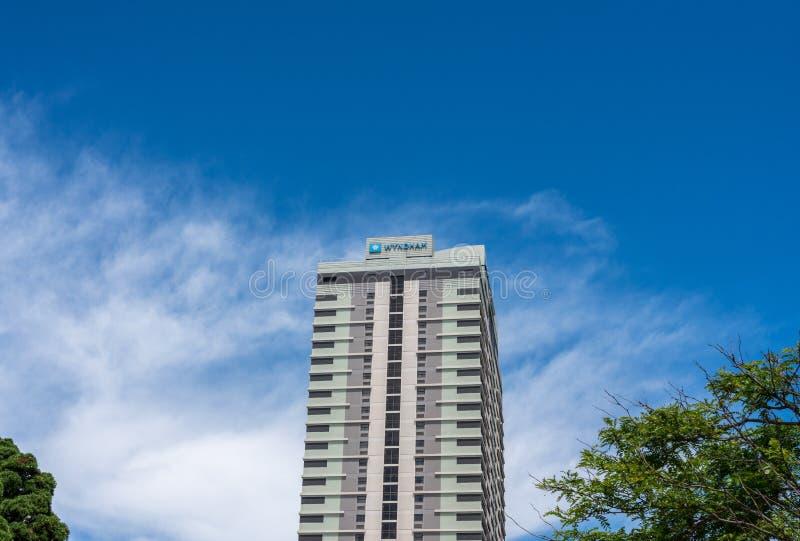 Wyndham地平线塔在新泽西海岸线的大西洋城 图库摄影