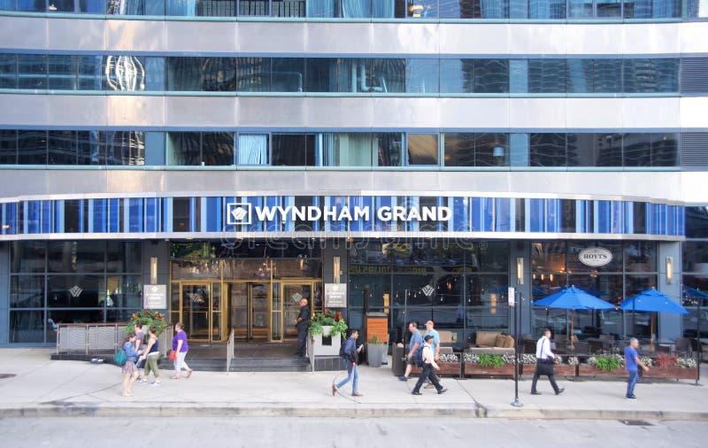 Wyndham Grand Hotel Downtown Chicago, Illinois royalty free stock photo