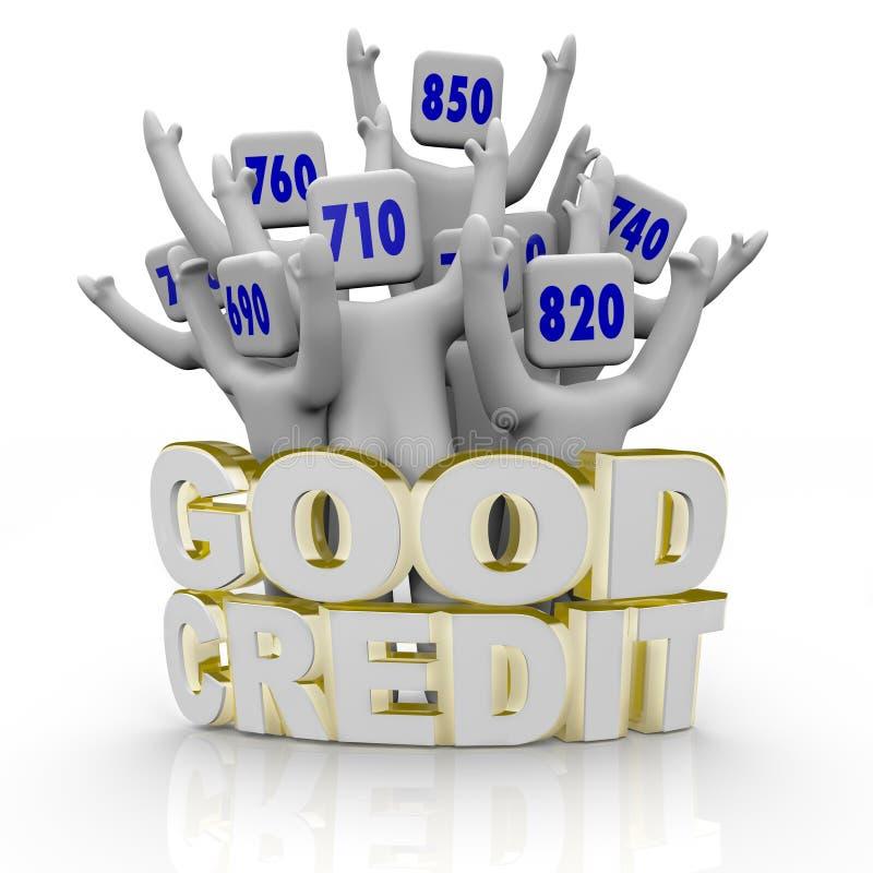 wyników TARGET2487_1_ kredytowi dobrzy ludzie royalty ilustracja