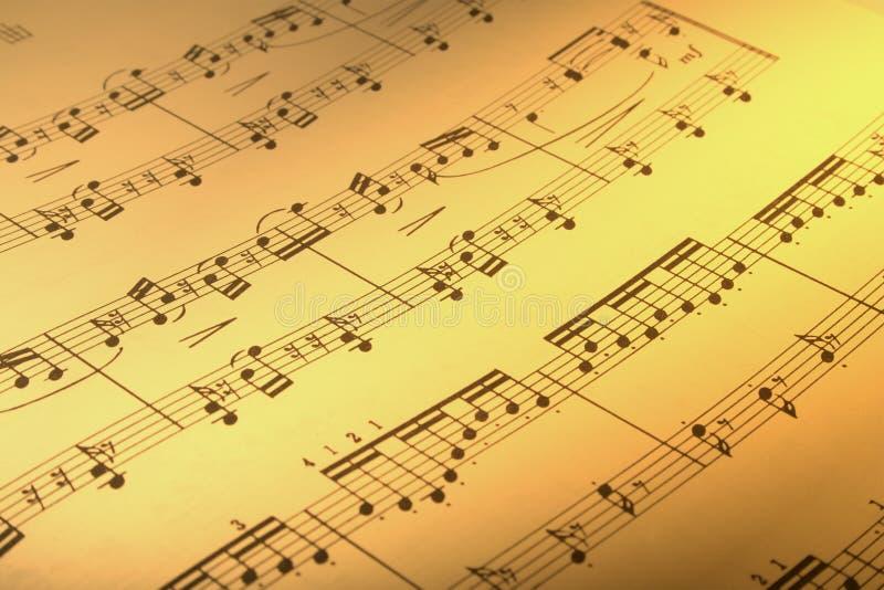wynik muzyki. zdjęcie stock