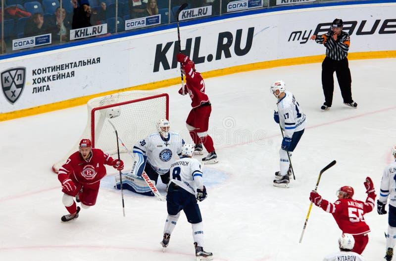 Wynik w dynama Minsk drużynie obraz stock