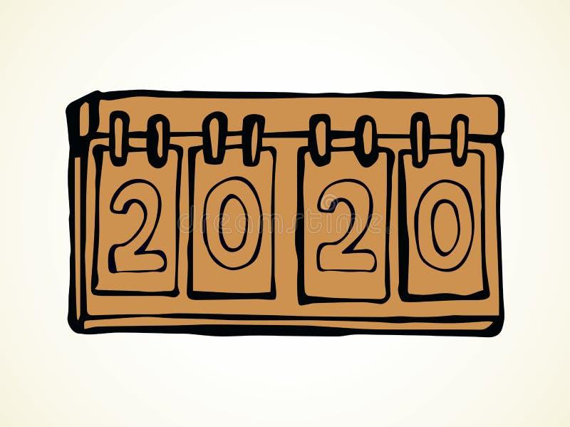 Wynika nowy rok rysuje t?a trawy kwiecistego wektora ilustracji