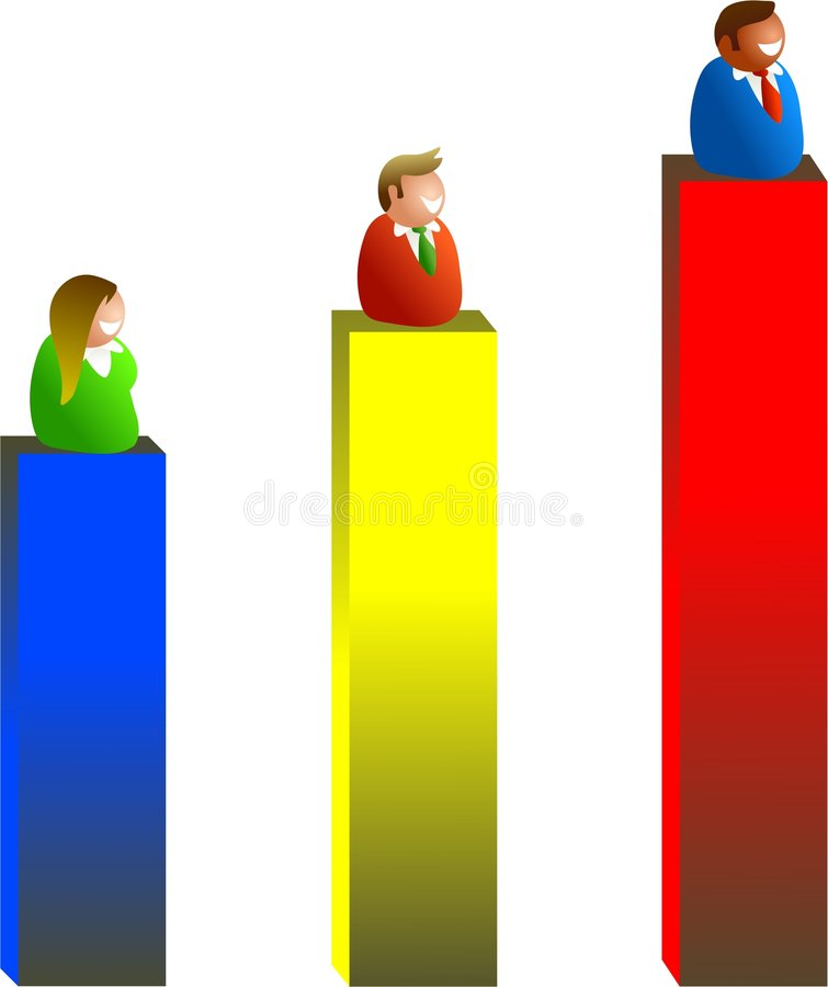 wyniki sprzedaży royalty ilustracja