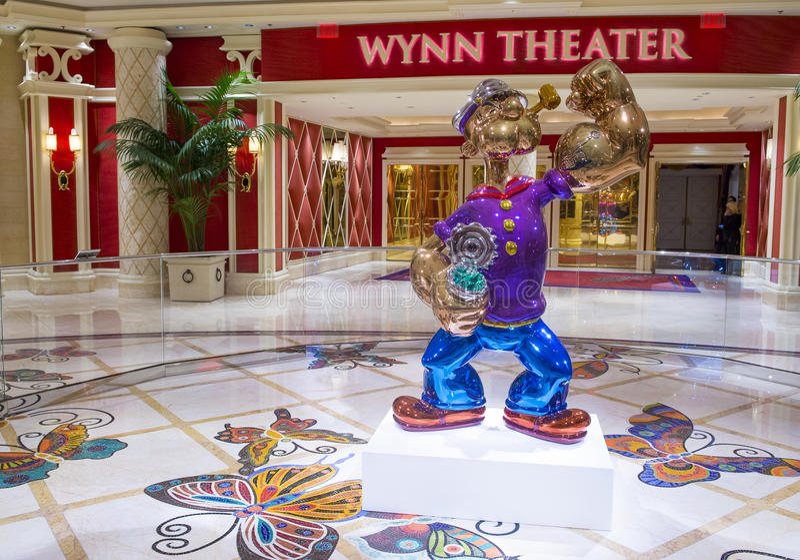 Wynn拉斯维加斯Popeye 免版税库存照片