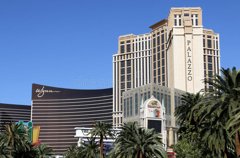 Wynn και τα ξενοδοχεία Λας Βέγκας Palazzo στοκ εικόνες