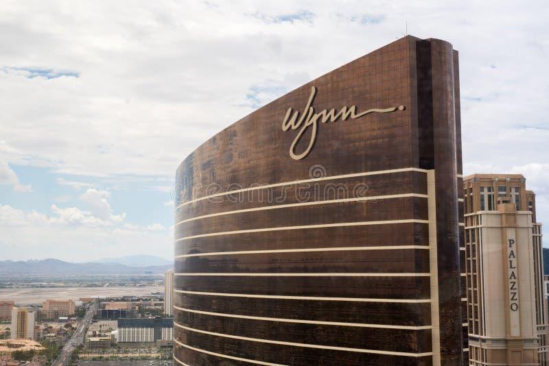 Wynn Λας Βέγκας και το Palazzo στοκ εικόνες