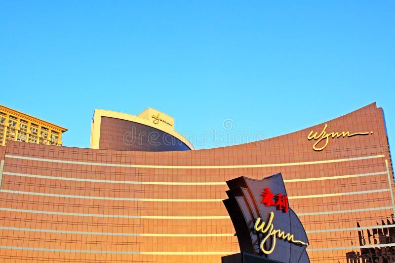 Wynn Casino Building, Macau, China stock images