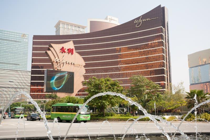 Wynn Casino i Macao arkivfoton