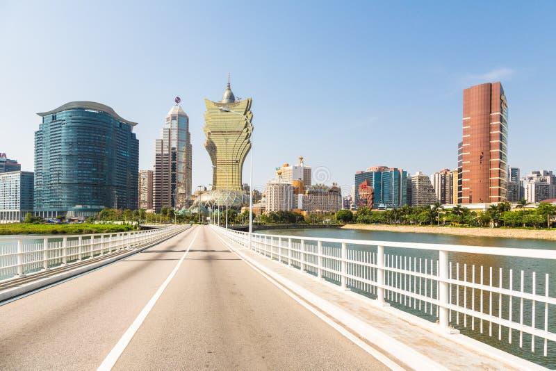 Wynn and Grand Lisboa casinos in Macau royalty free stock images