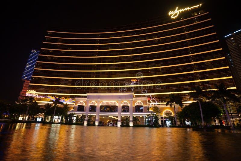 Wynn Hotel Casino dans Macao images libres de droits