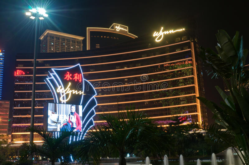 Wynn Hotel in macao royalty free stock photography