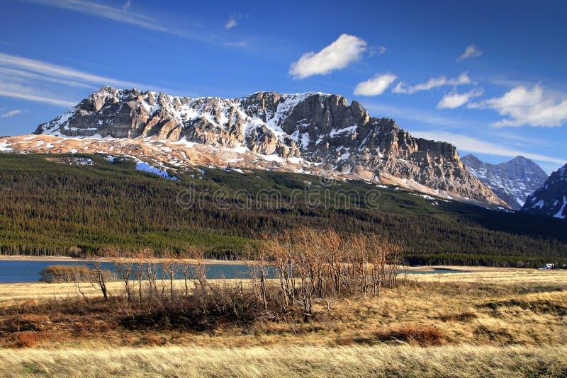 """Wynn Mountain in Glacier National Park, """"la regione di molti ghiacciai fotografia stock"""