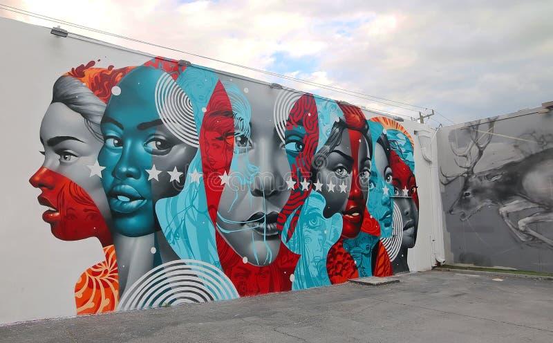 Wynwood mura Miami fotografia stock libera da diritti