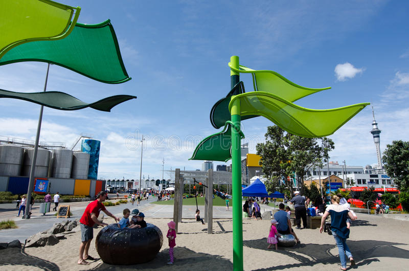 Wynyard-квартал Playspace Окленда стоковые фото