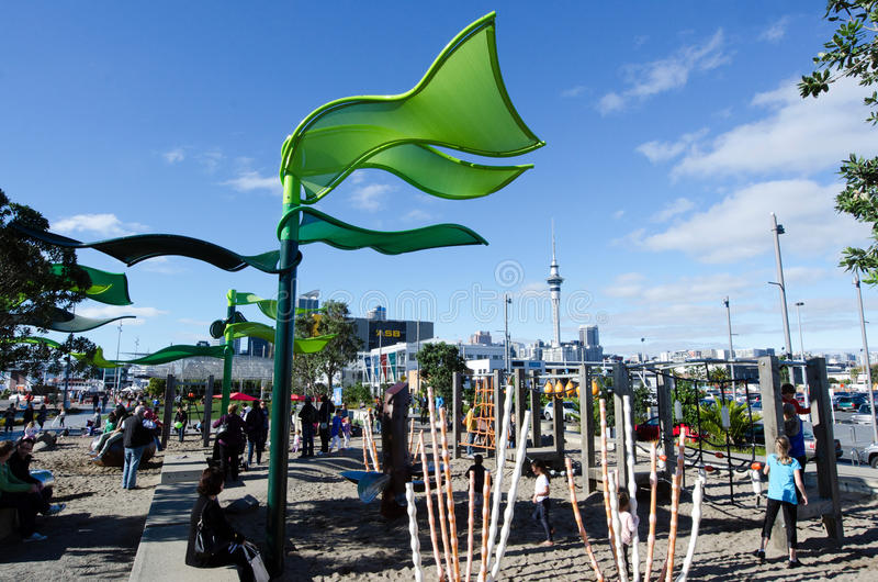 Wynyard-quart Playspace d'Auckland photo libre de droits