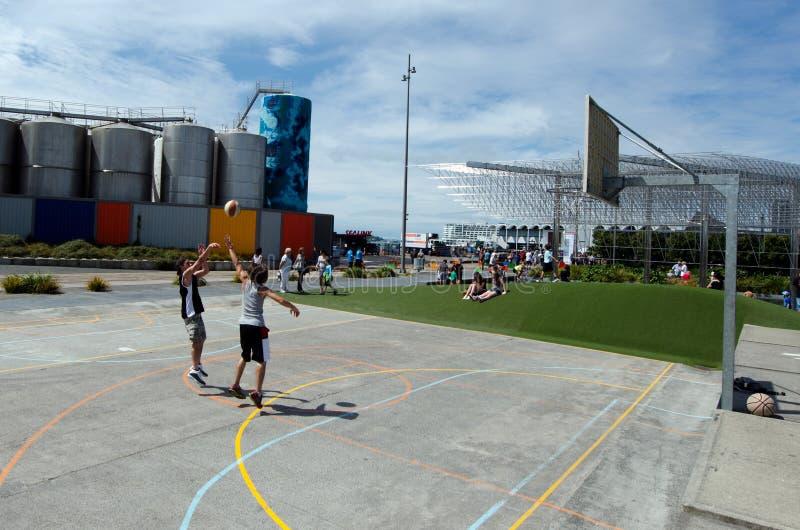 Wynyard-quart Playspace d'Auckland images libres de droits