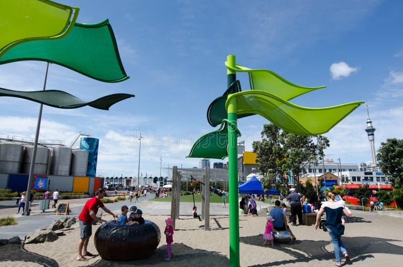 Wynyard-quart Playspace d'Auckland photos stock