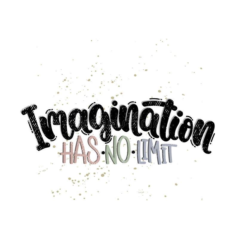 Wyobraźnia żadny ograniczenie ilustracja wektor