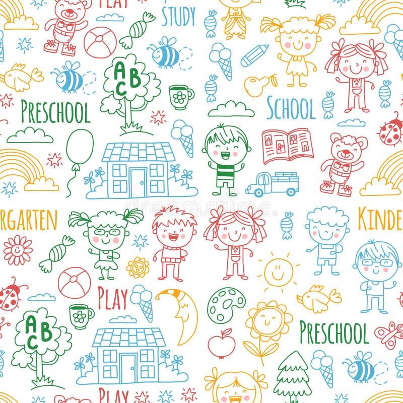 wyobraźnie eksploracja nauka Sztuka learn dzieciniec Dzieci dziecka daugther rysunkowego rodzinnego ojca dziadek babci dzieciaki  ilustracja wektor