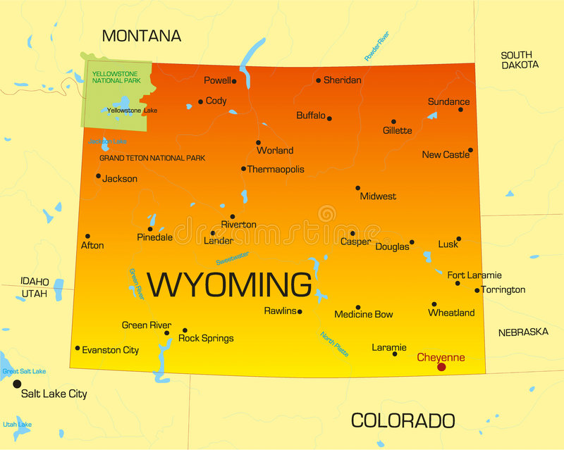 Wyoming royaltyfri illustrationer