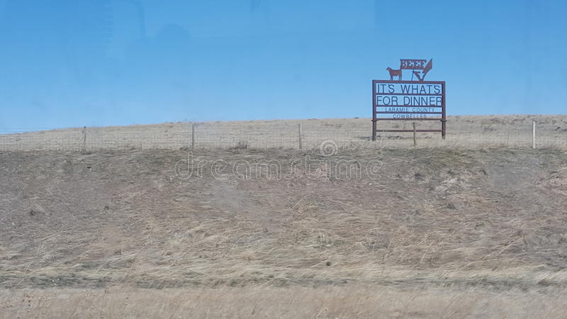 Wyoming beef country royalty free stock images