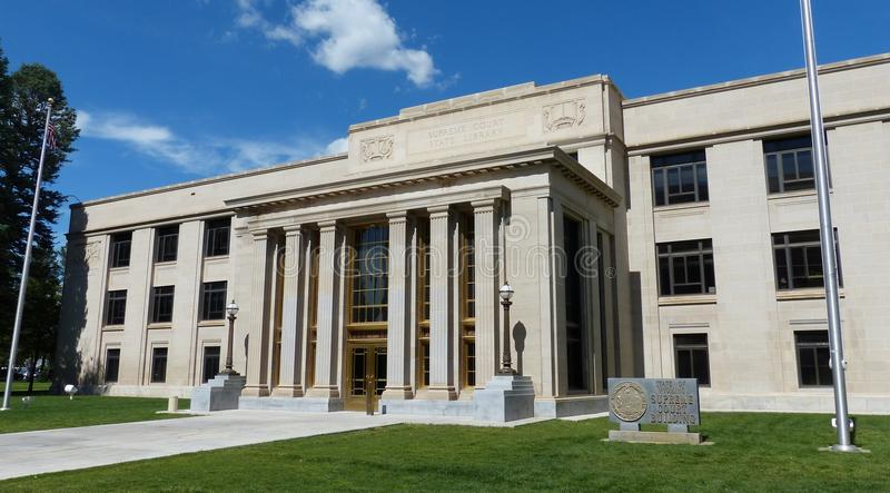 Wyoming delstatens högsta domstol arkivbild