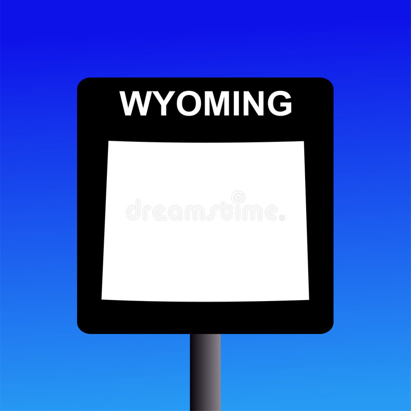 Download Wyoming highway sign stock vector. Illustration of indication - 3444509