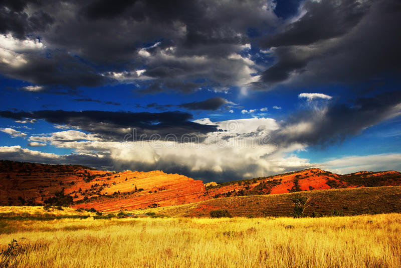 Wyoming himmel arkivbild