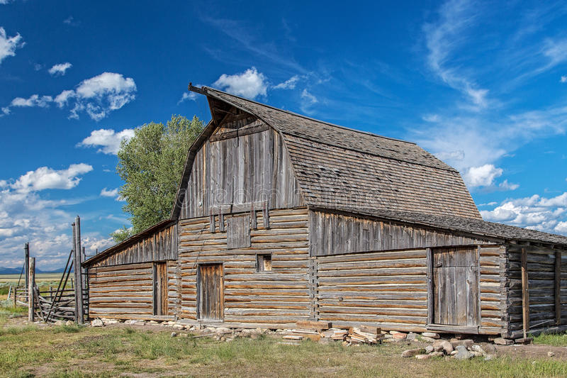 Wyoming ladugård arkivbild