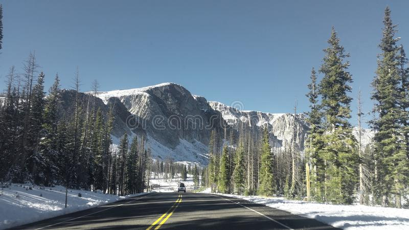 Wyoming mountains. Here's a photo of the mountains near Laramie, Wyoming royalty free stock image