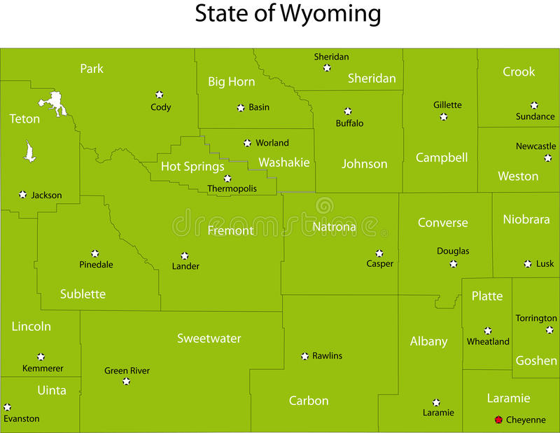 Wyoming stan royalty ilustracja
