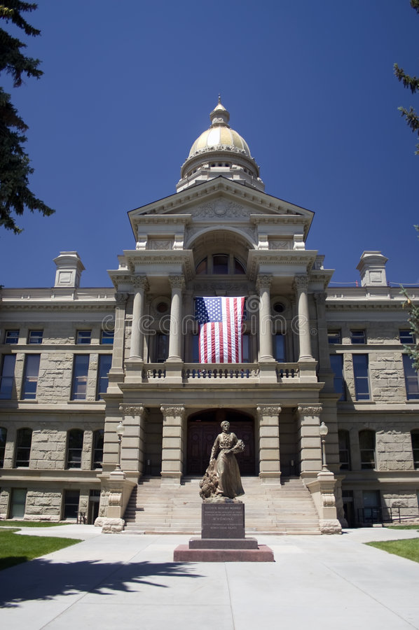 Wyoming State Capitol Building. Wyoming State Capitol located in Cheyenne, Wyoming stock images