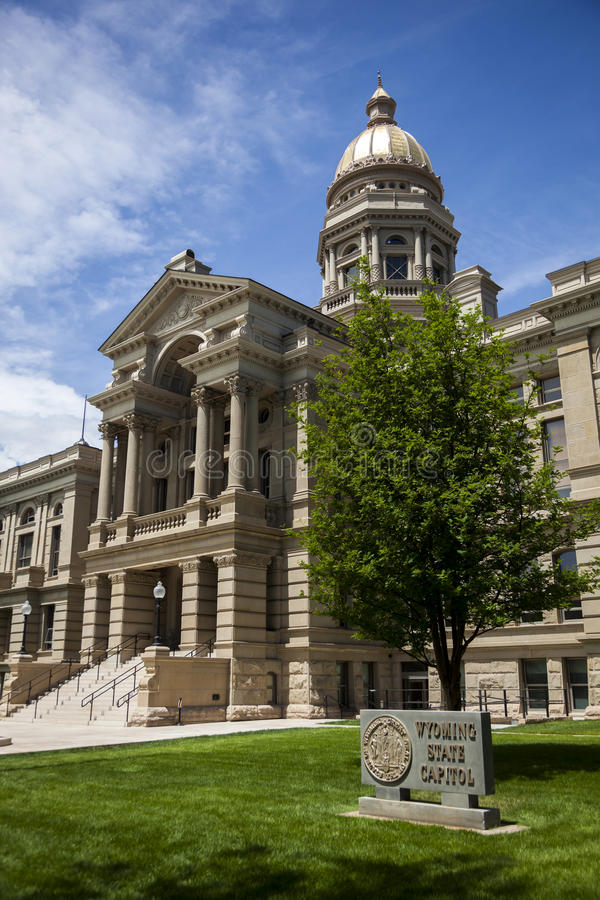 Wyoming State Capitol Building stock photography