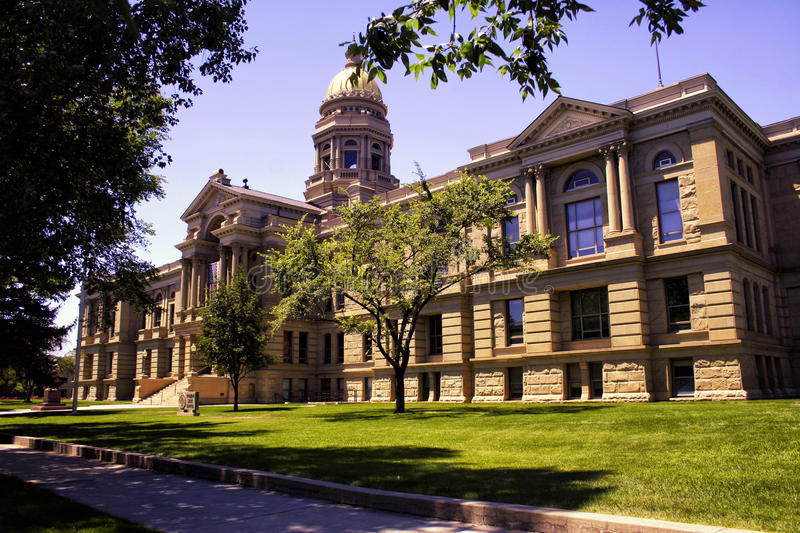 Wyoming State Capitol Building. Wyoming State Capitol located in Cheyenne, Wyoming stock photo