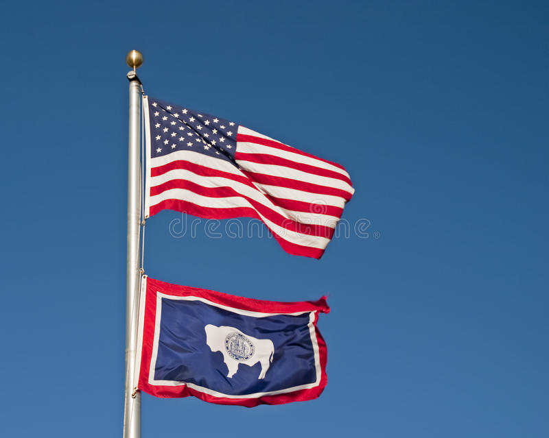 Wyoming State flag royalty free stock photography