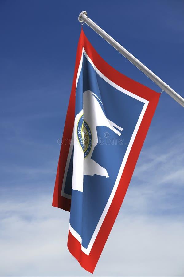 Wyoming state flag stock photos