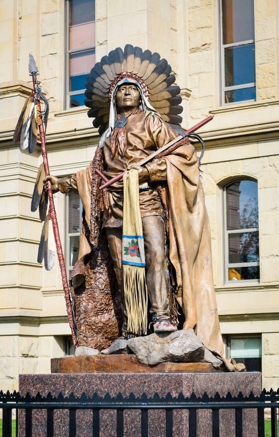Wyoming statlig Kapitolium fotografering för bildbyråer