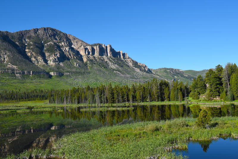 Wyoming utsikt längs chefen Joseph Scenic Byway arkivfoton