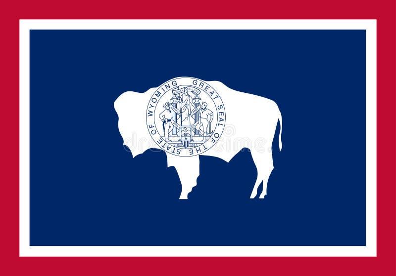 Wyoming-Vektorflagge Auch im corel abgehobenen Betrag Vereinigte Staaten von Ameri stock abbildung