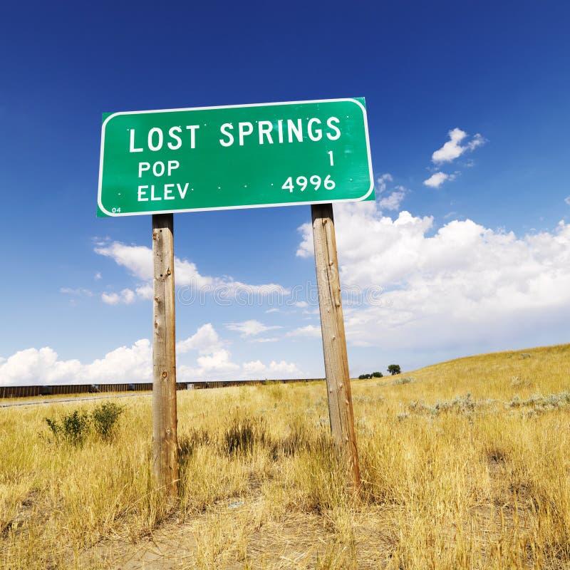 Wyoming-Verkehrsschild. stockfotografie