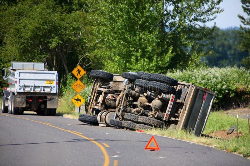 wypadek ciężarówki obrazy royalty free