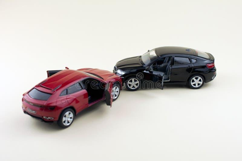 Wypadek drogowy, samochodowy karambol obraz royalty free