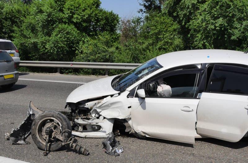 Wypadek na autostradzie zdjęcie stock