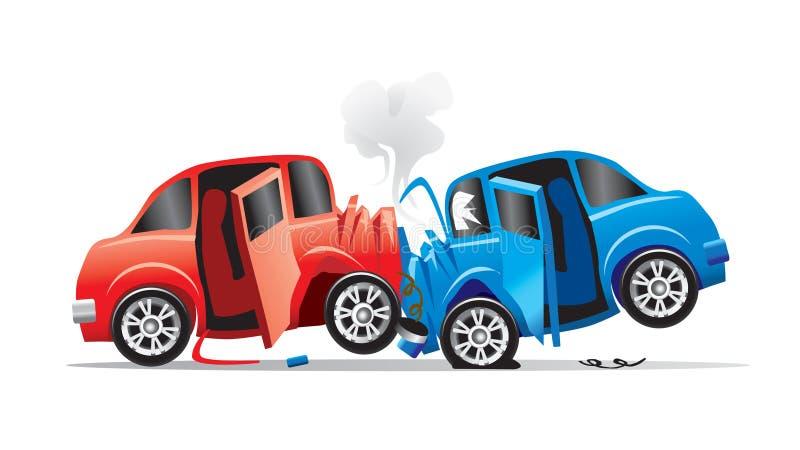 Wypadek samochodowy   ilustracja wektor