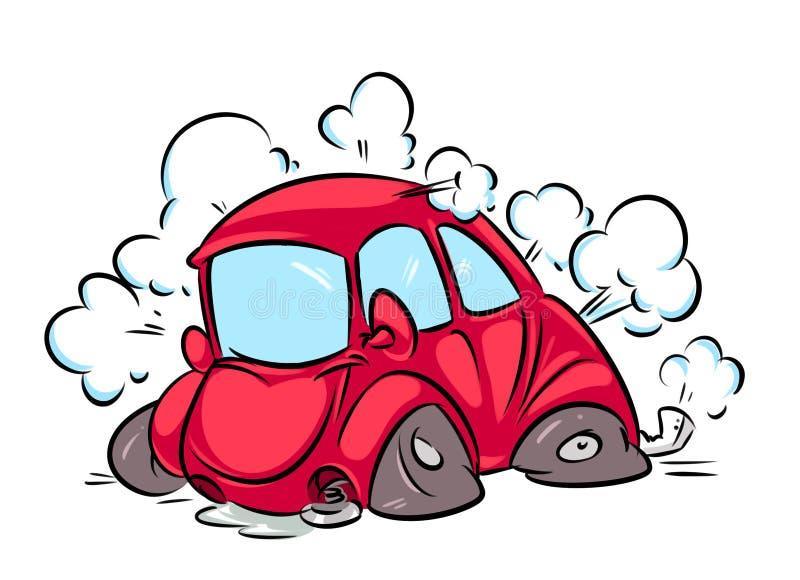 Wypadek samochodowy kreskówki ilustracja royalty ilustracja