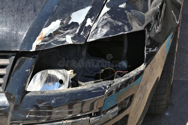 Wypadek samochodowy szkoda zdjęcia royalty free